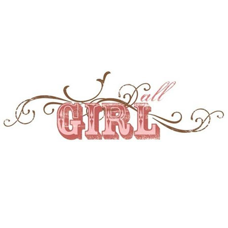 Rub Ons - Transfer Text - All Girl - BHT117